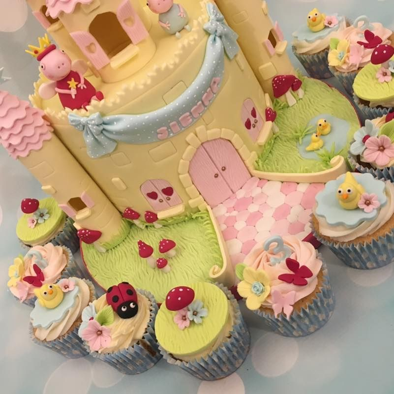 Toadstools Ducks Butterfly Flowers Peppa Pig Birthday Cupcakes