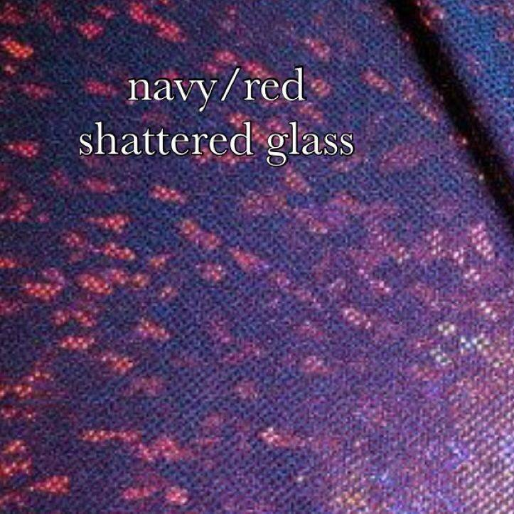 red/navy shattered glass
