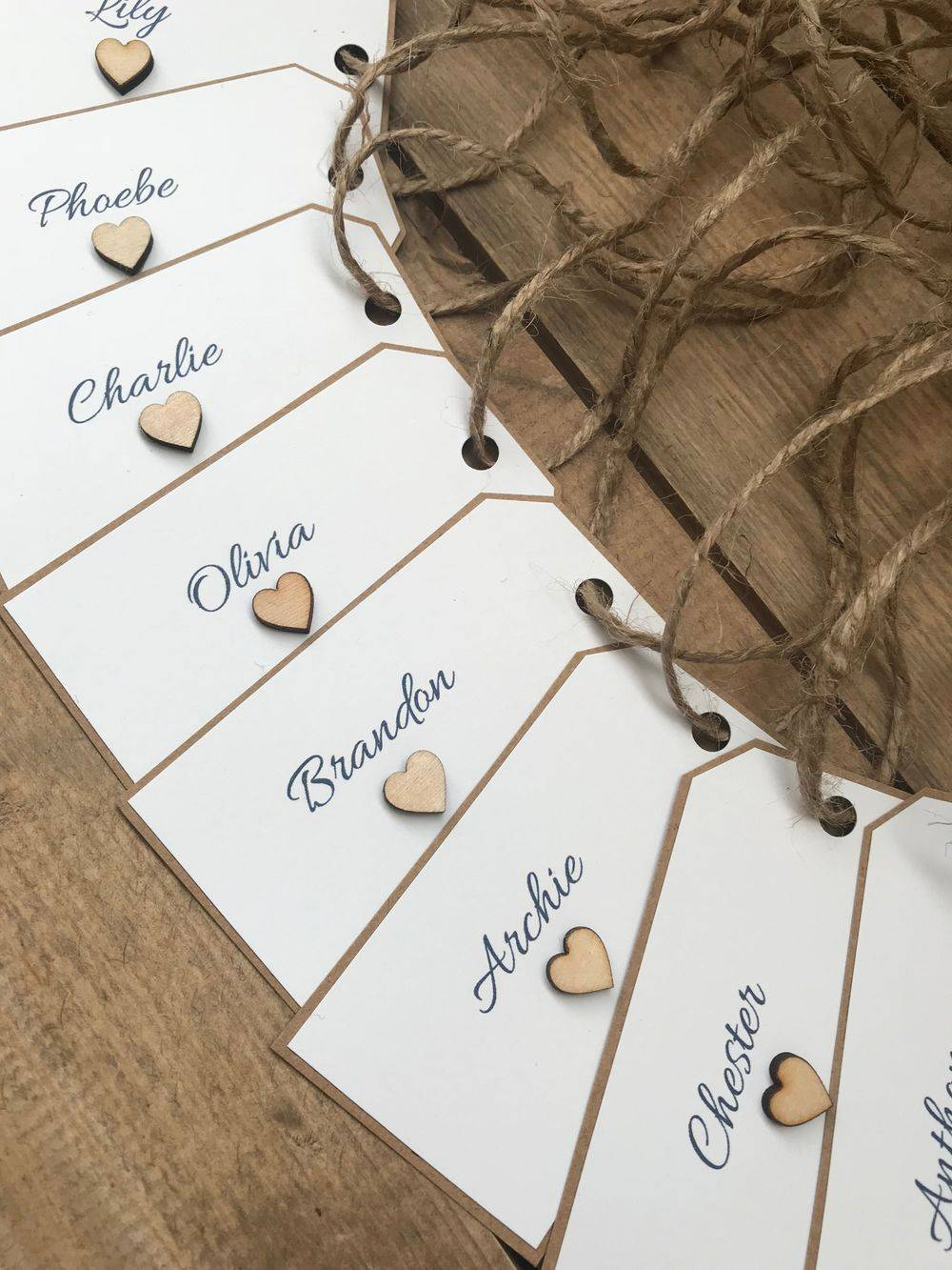 Rustic Heart Tags
