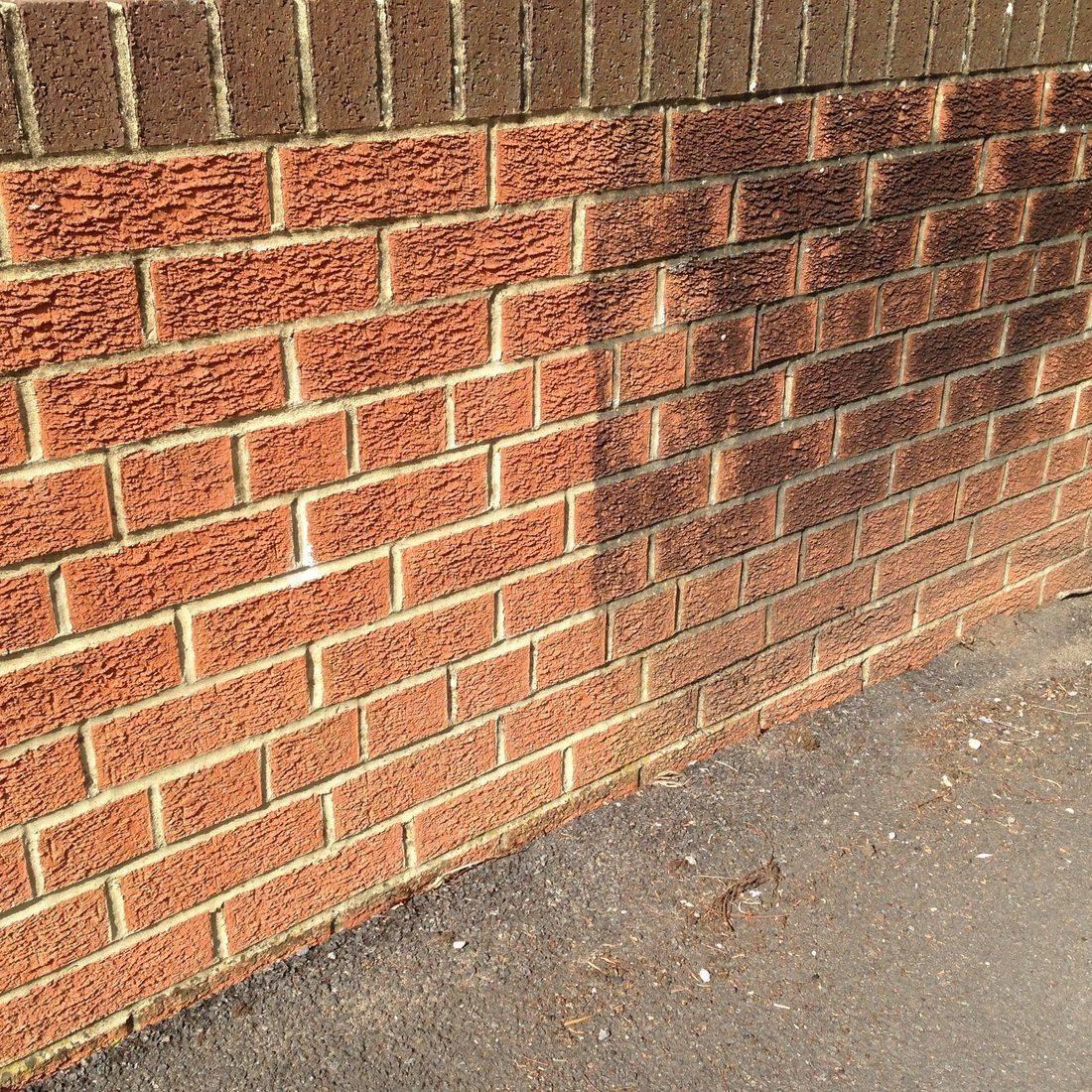 wall jetwash clean dirt grim wash