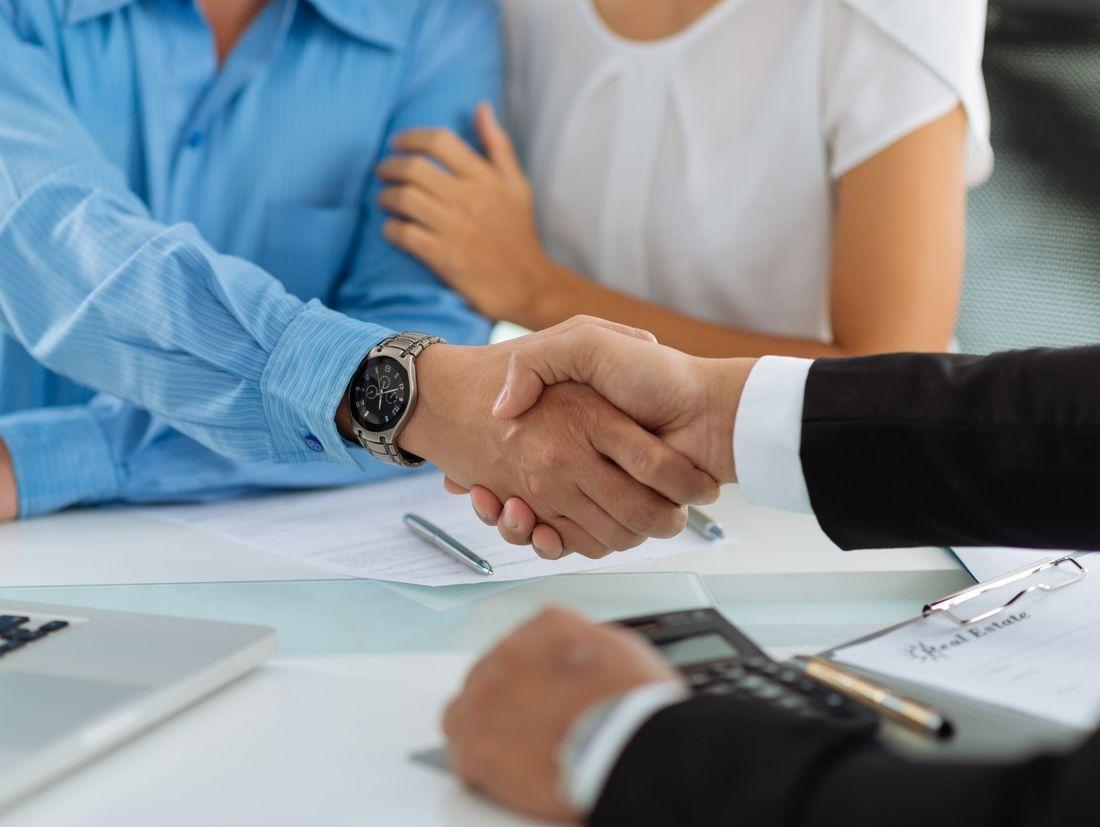 handshake with couple