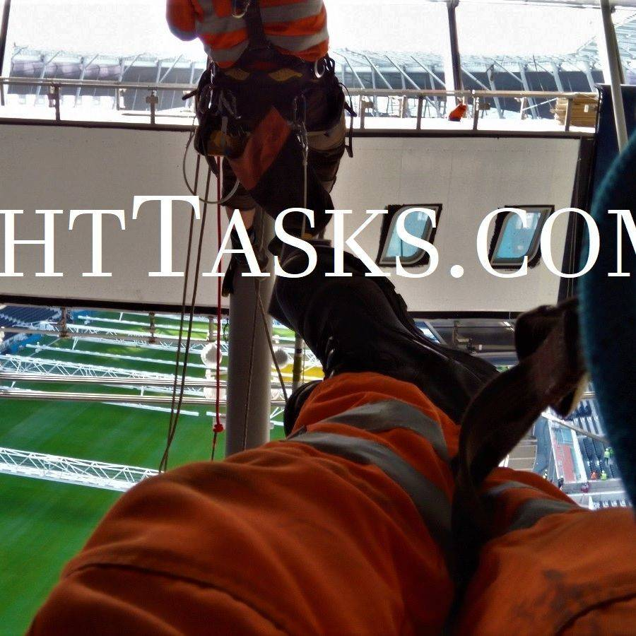 Working at height, beneath the roof