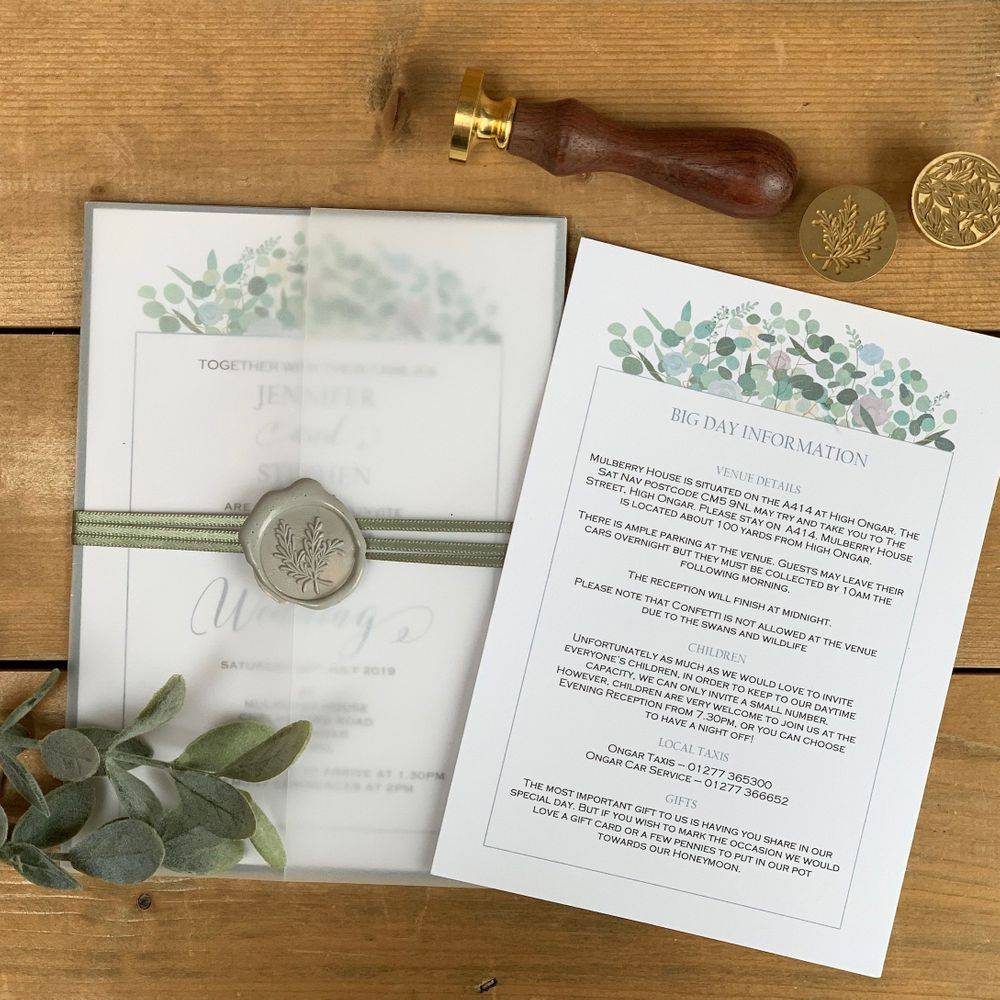 Invitations with Wax seal