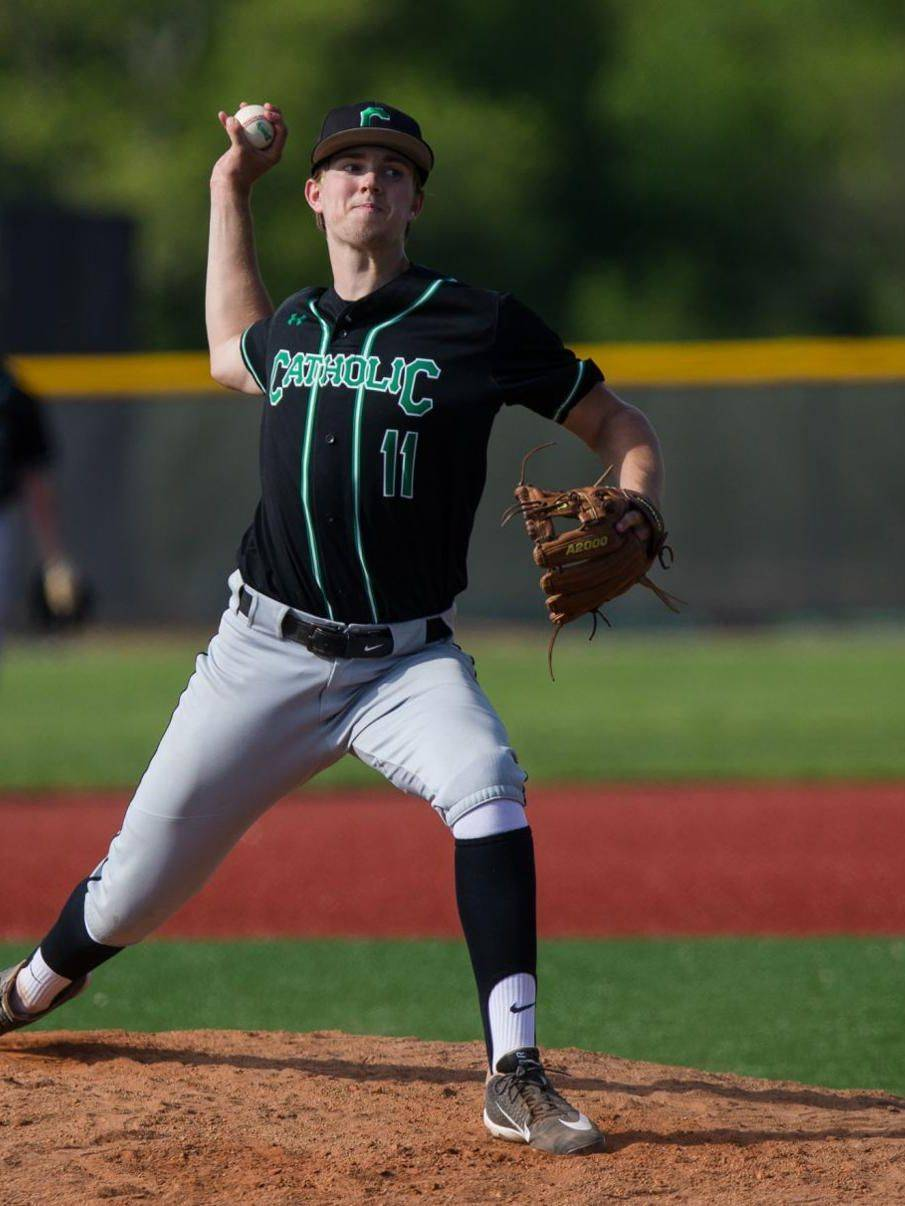 Marshall Pile all state player pitching