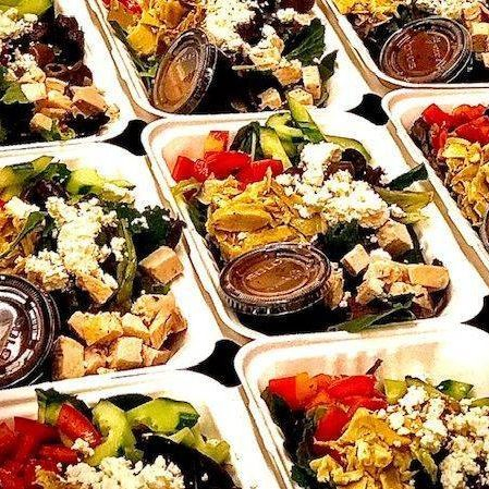 Greek boxed salad