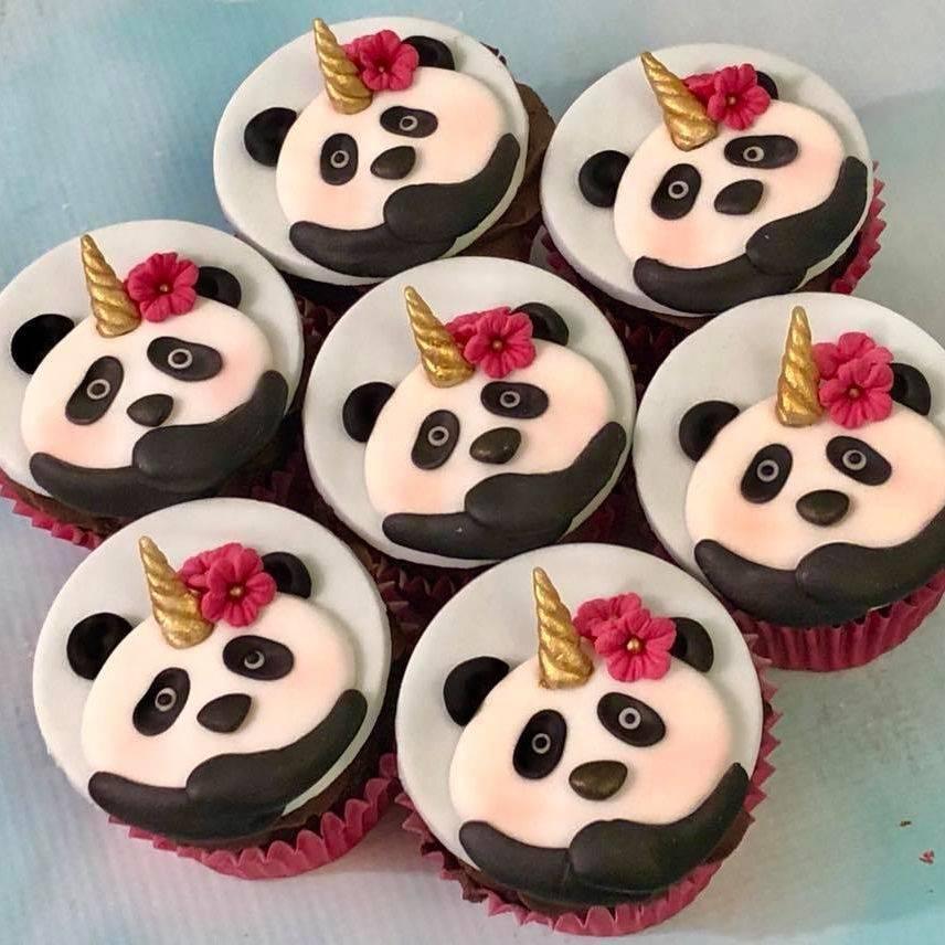 Panda Unicorn Pandicorn Pandacorn Unipanda Cupcakes