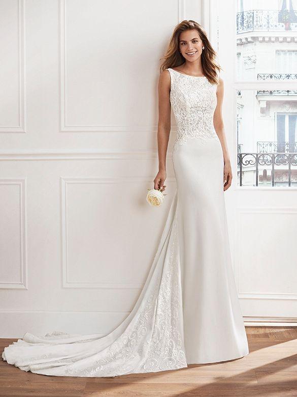 sheath sale wedding dress. lace and sparkle