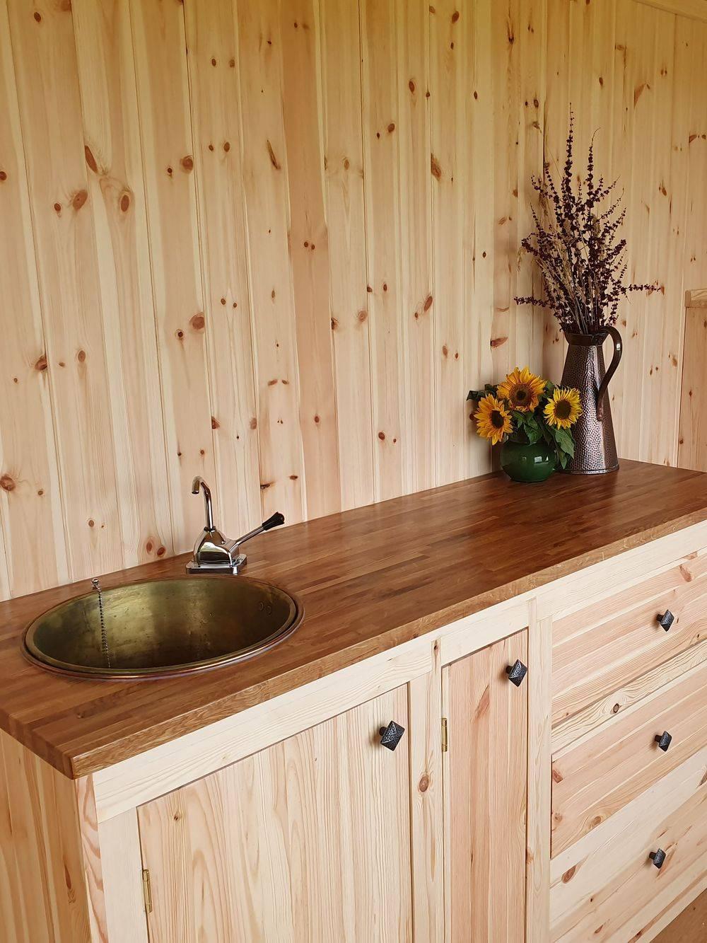 Natural wood finish