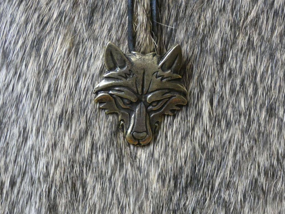 Wolf Pendant, Slavic Wolf, Vuk, Iron Age, Bronze Age, Shield Ravens