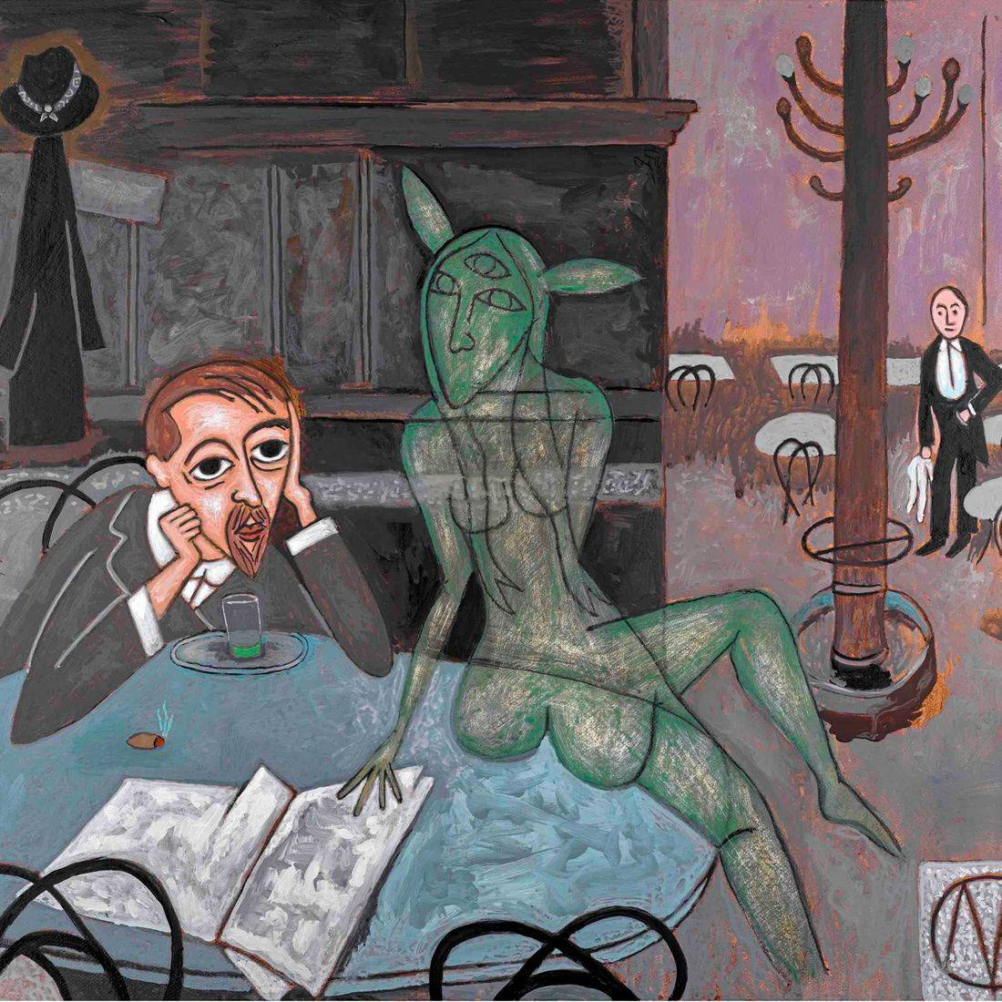 Absinthe, Viktor Oliva, Cafes, Diners, Restaurants, Phantasms