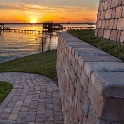 retaining wall, landscape wall, paver wall, outdoor living, brick wall