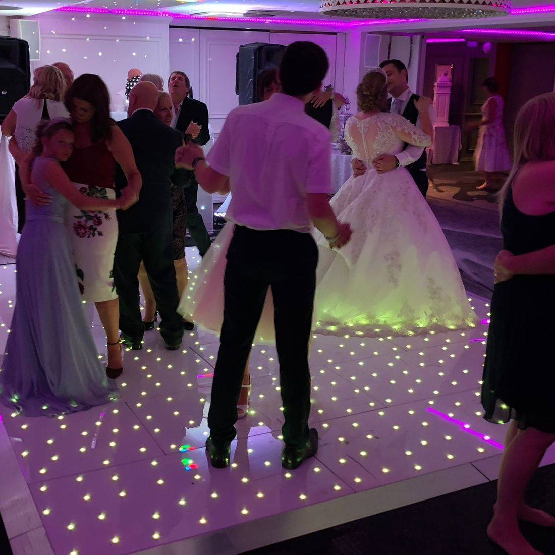 Hoar Cross Hall Led Dancefloro Hire Wedding