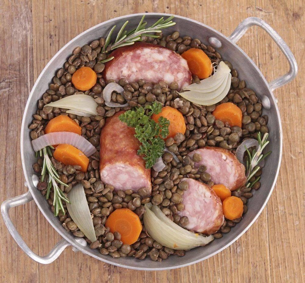 Petit Salé Lentilles vertes du Puy Chez Martine et Philippe 43