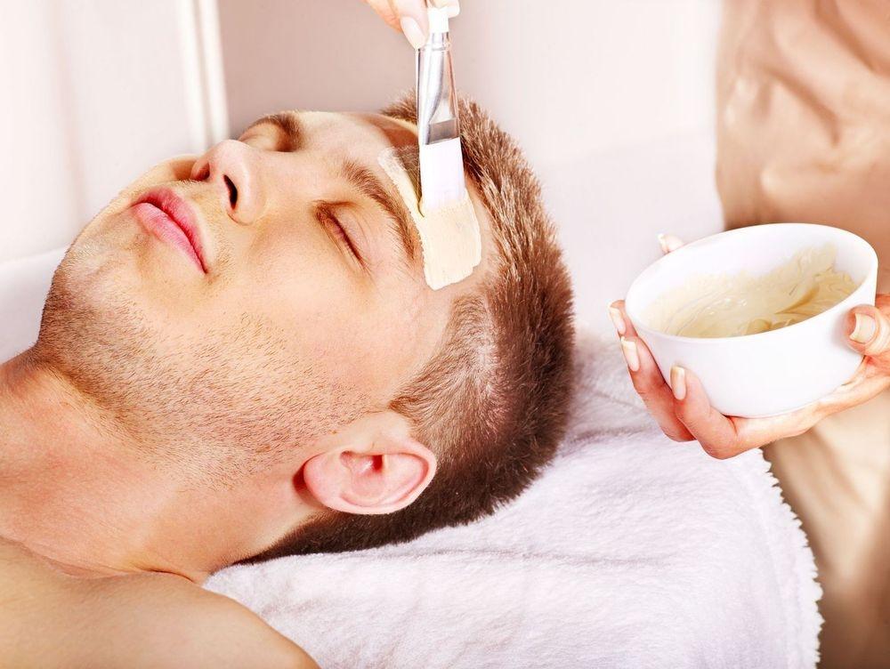 Man enjoying Hydrating Facial at Facial Studio Brighton