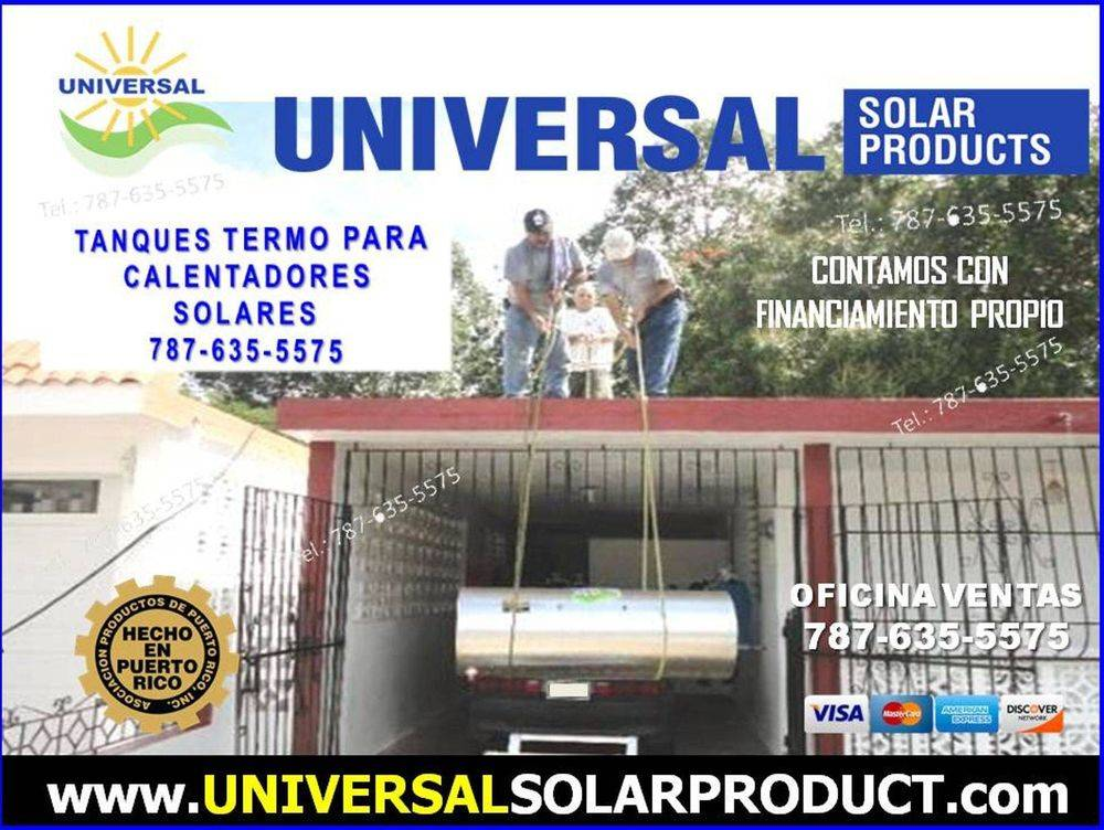 Tanque de calentador solar