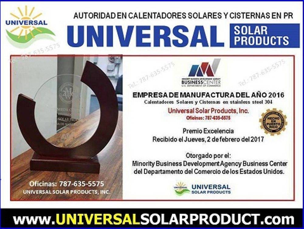Premio fabrica calentadores solares