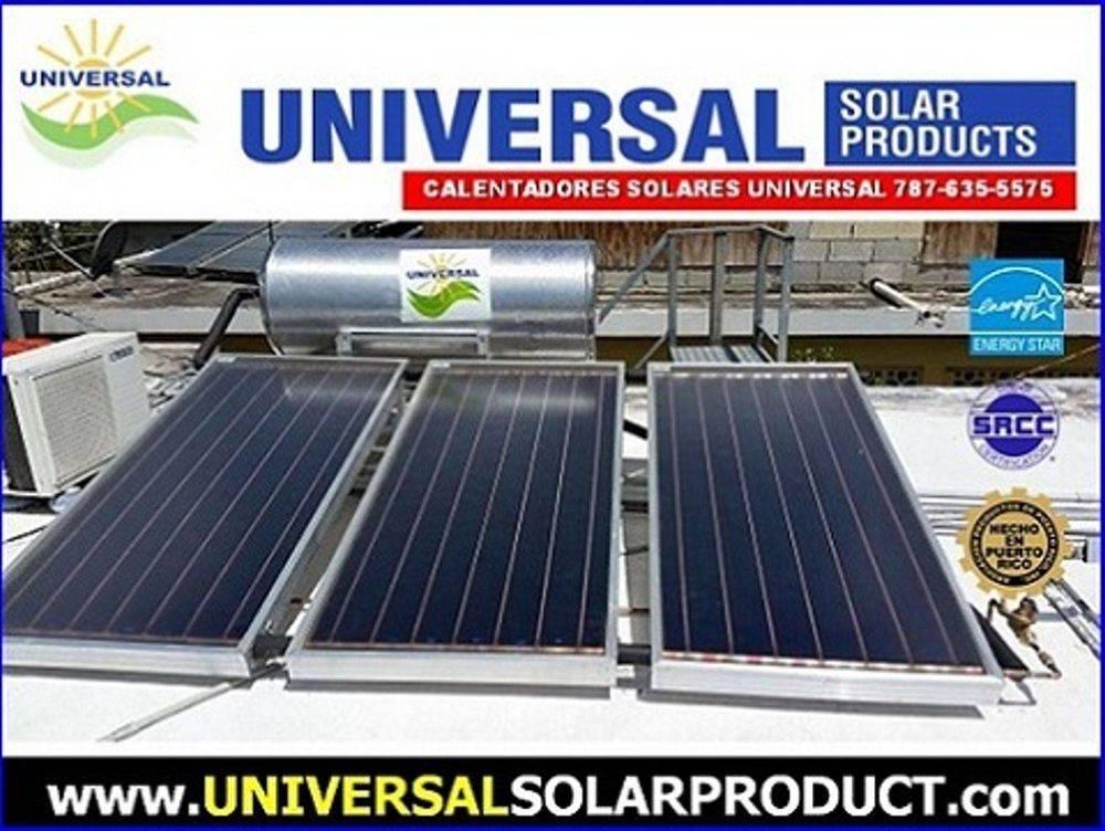 Calentador Solar de 3 placas certificado Energy Star. Suple agua caliente 1 a 7 personas  diariamente