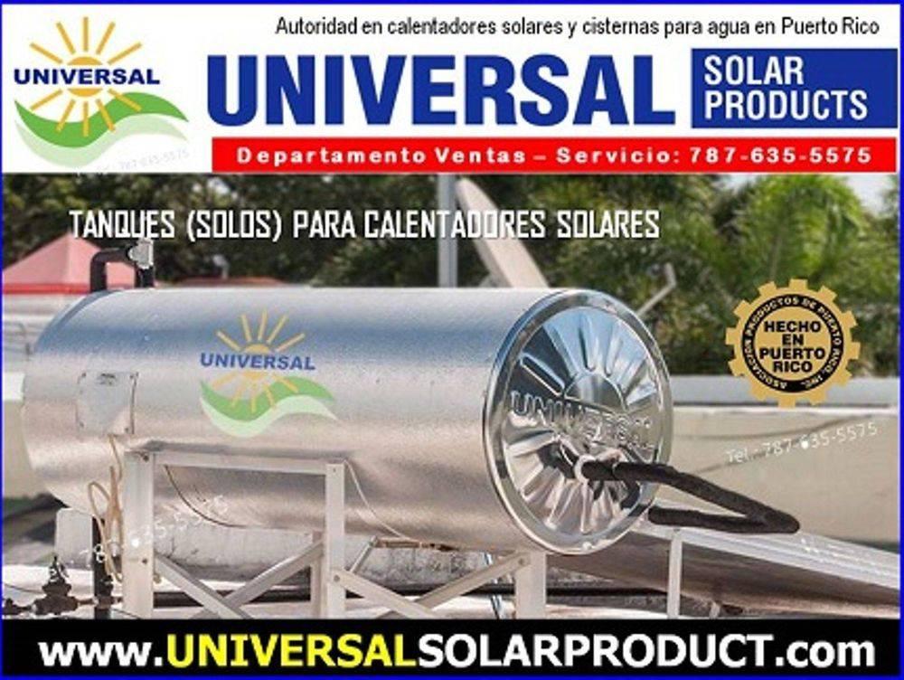 Tanques para calentadores solares a la venta en Puerto Rico por Universal  Solar
