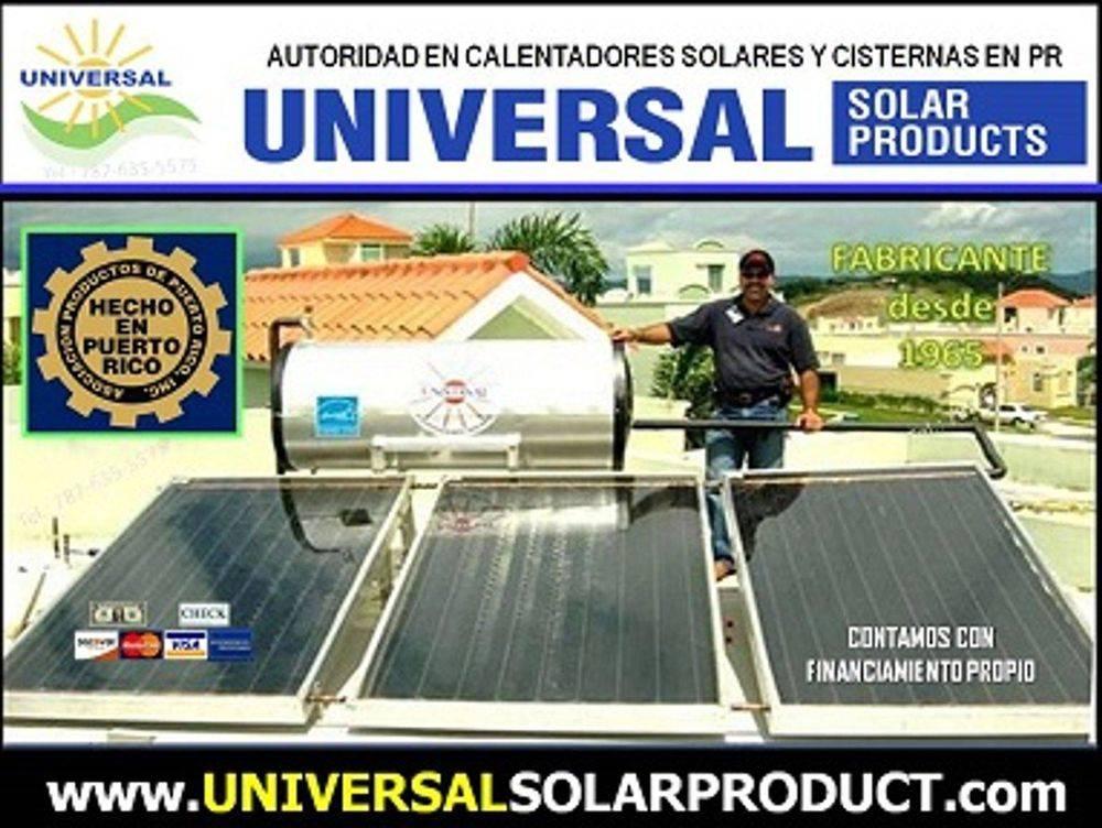 Calentadores Solares Puerto Rico. Calentador Solar Heavy duty para viviendas y comercios
