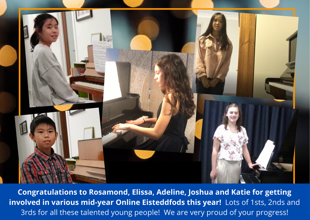 Piano eisteddfods online Hilberts Music Tuition