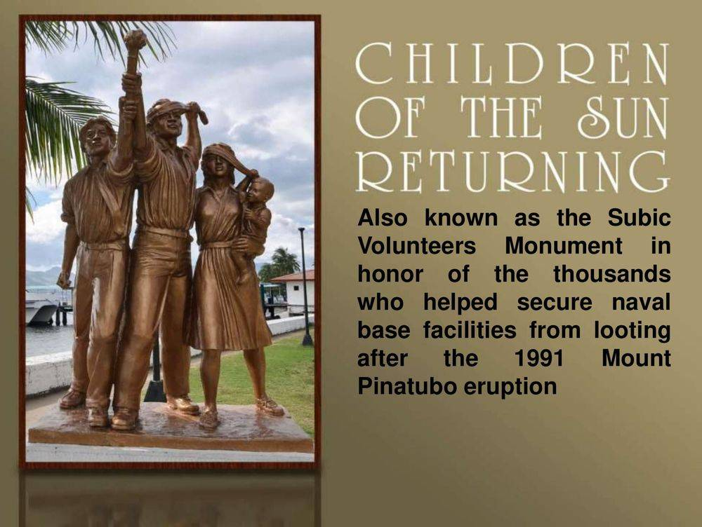 subic volunteers monument, children of the sun returning, inang laya subic, san roque chapel, spanish gate: a remnant of the spanish naval station, sun sea sand at subic, bird-watching: a must-try at subic bay, triboa mangrove park, pamulaklakin forest trails , magaul bird park at jest camp , jest camp adventure and bird park , discover the aetas' indigenous culture , british & far east traders & partners, subic bay freeport zone philippines, invest in the philippines, holy land subic sanctuary and theme park, ocean adventure- southeast asia's only open water marine park, treetop adventure: the world's first motorized canopy tour, zoobic safari, funtastic park subic bay, subic bay ecotourism, apaliin forest trails
