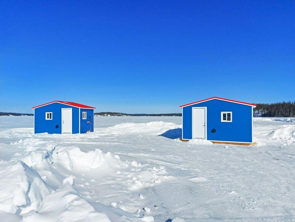 Yellowknife Ice fishing shacks cabins rentals