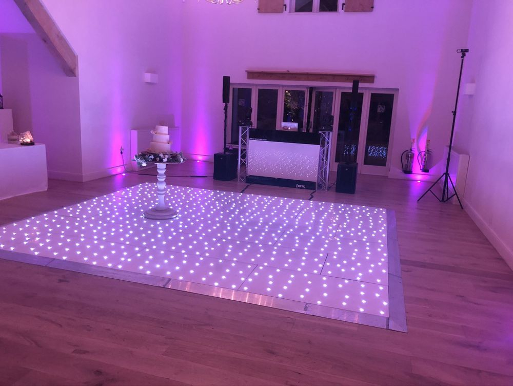 Wedding DJ and Led dancefloor West Midlands