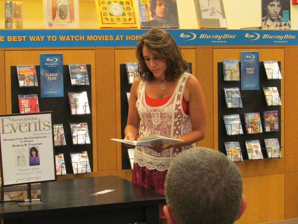 Andrea R Freeman, Author, Messages From My Grandparents In Heaven, Book Release, Book Signing, Book Discussion, Barnes & Noble, Staten Island New York