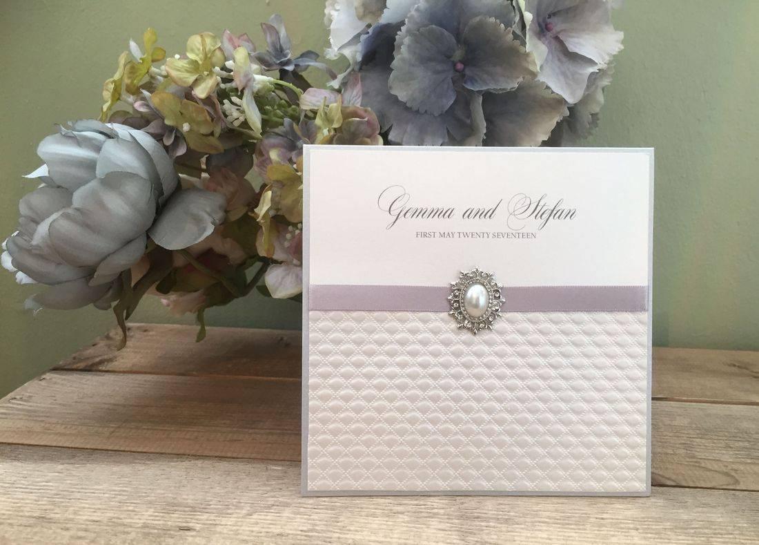 Luxury Embossed Pocket Fold Invitation