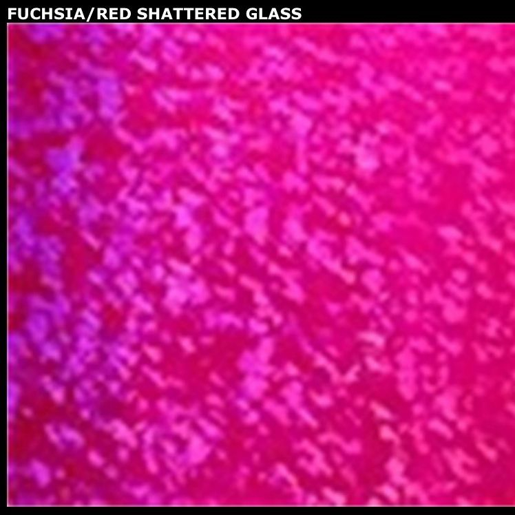 Fuchsia red shatter glass