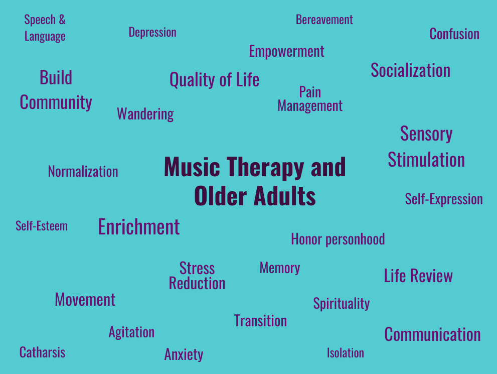 older adults music therapy helps coping socialization anxiety  self-expression
