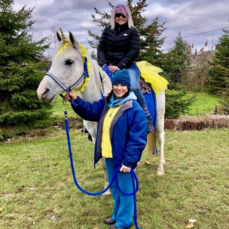 Cindy and Padreena horse