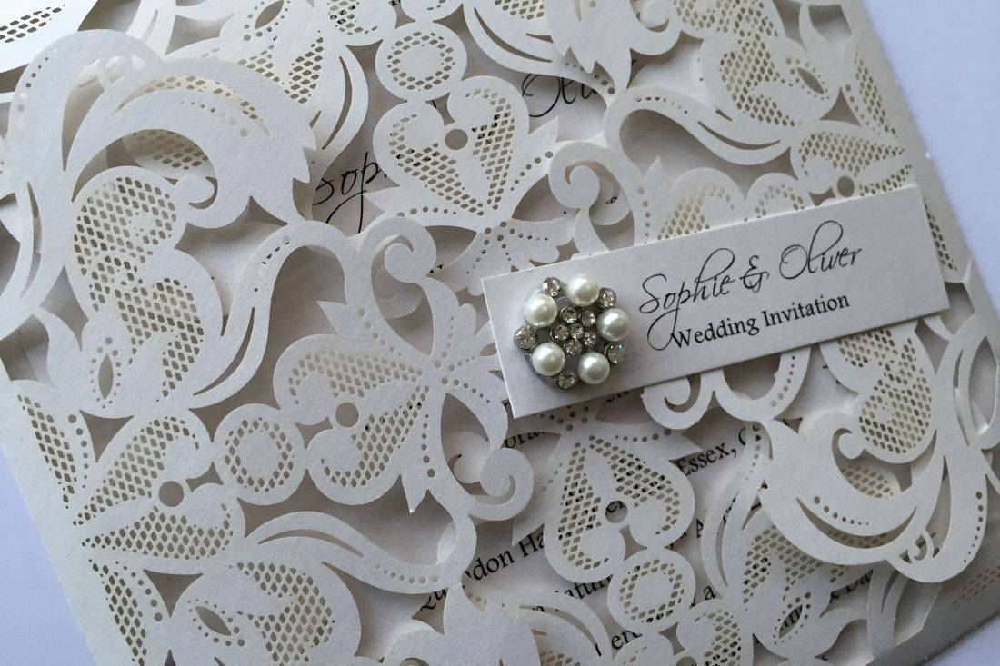 lasercut wedding invitation, lace lasercut invitation, wedding invitations, luxury wedding invitations