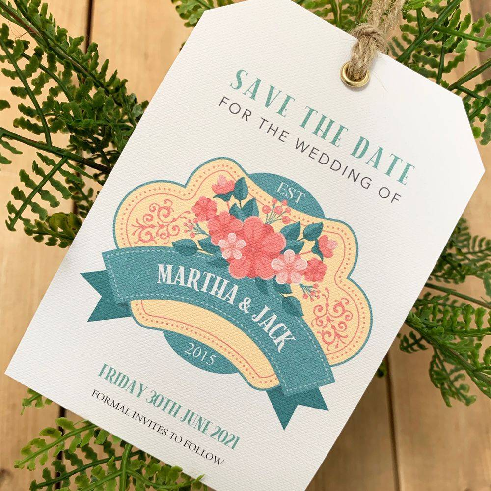 Vintage Save the Date Tag