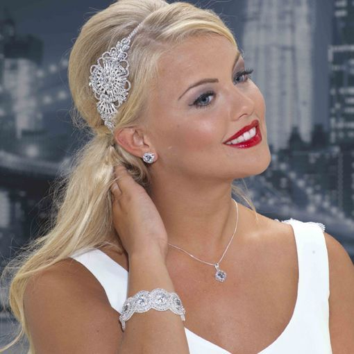 Tiara,hairpiece,wedding bracelet,earrings