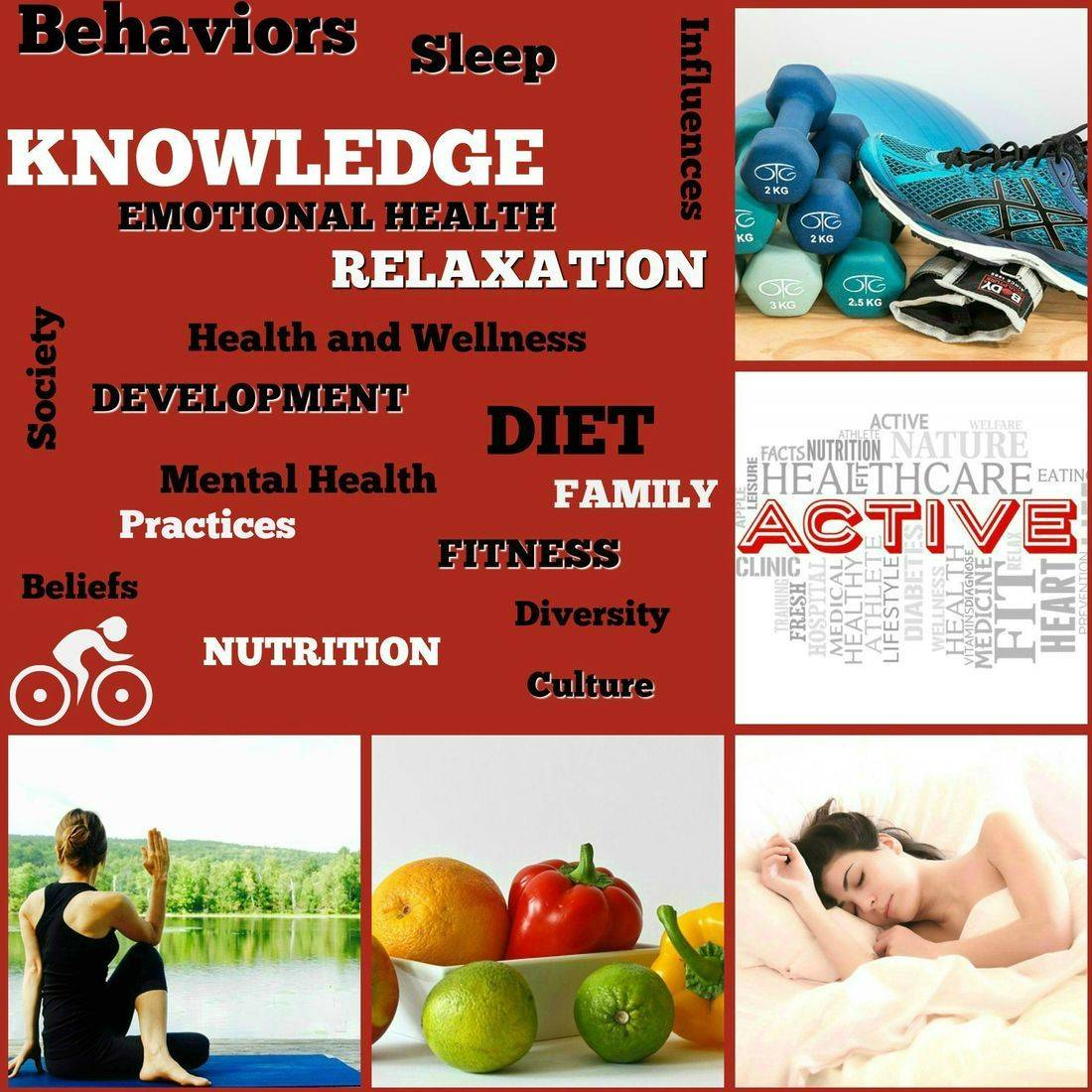 Health, wellness, behaviors, culture, influences, fitness, diet