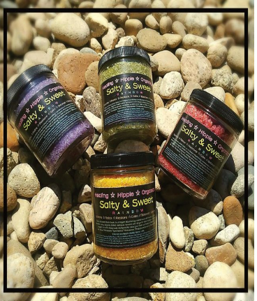 Salty & Sweet Body Scrubs, Healing Hippie Organics, Boise, Idaho, USA