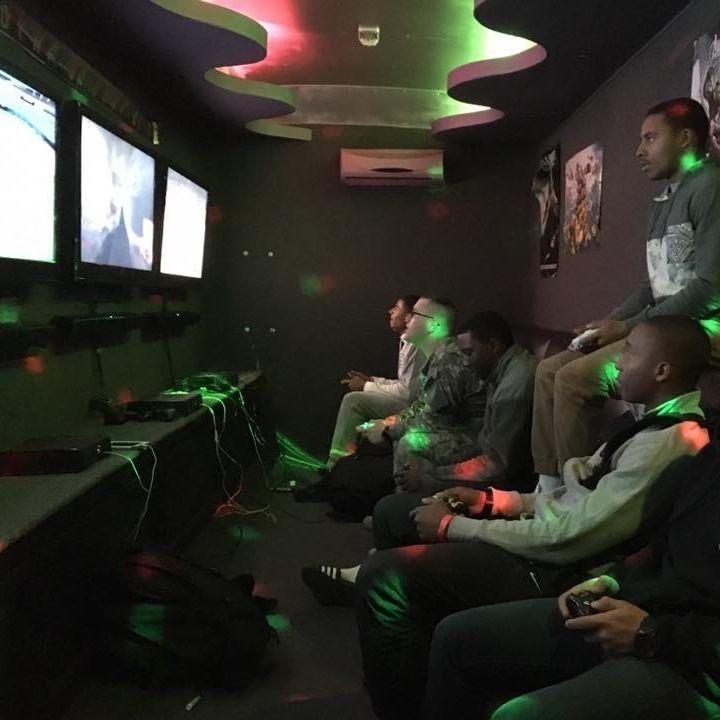 Game Truck; Game Bus; video game; bounce house; birthday; party; jonesboro; fun; winter; summer