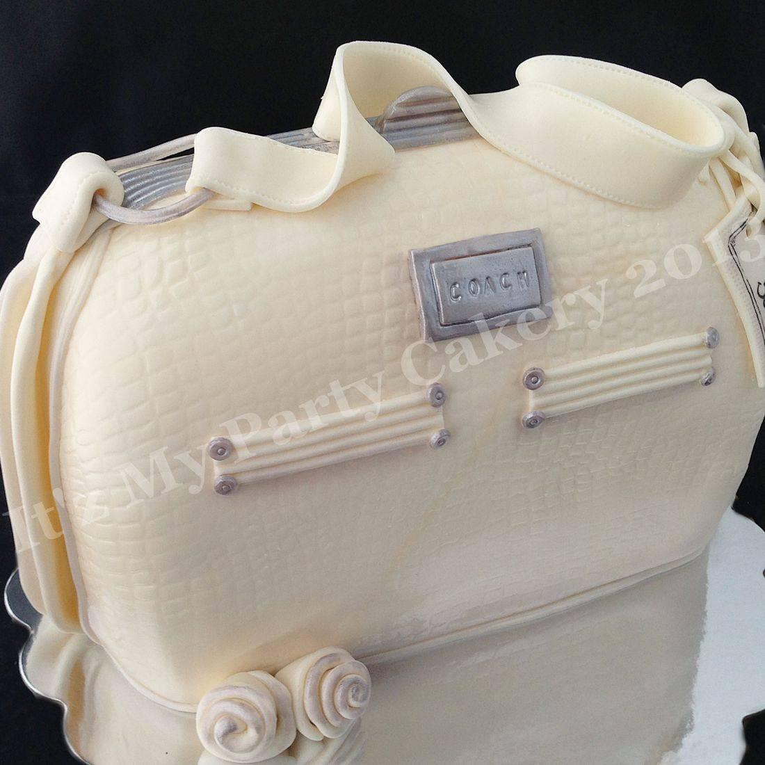 White Coach Purse Carved Dimensional Cake Milwaukee