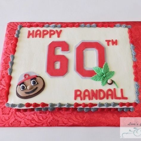Ohio State Birthday Cake, OSU Birthday Cake