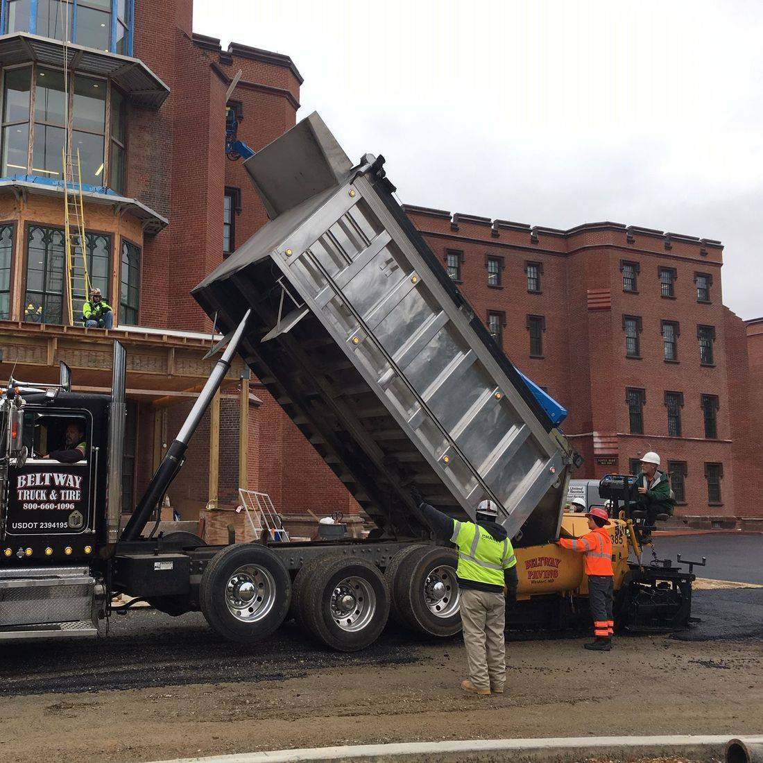 asphalt paving at St. Elizabeths West Campus Headqurters