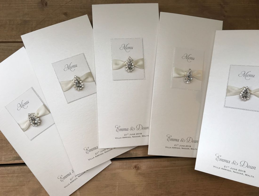 Luxury Menu Cards