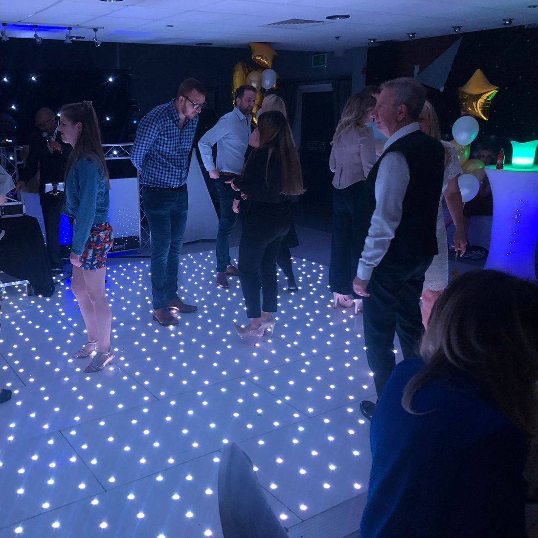 LED Starlit Dancefloor Stourbridge led Dancefloor Hire