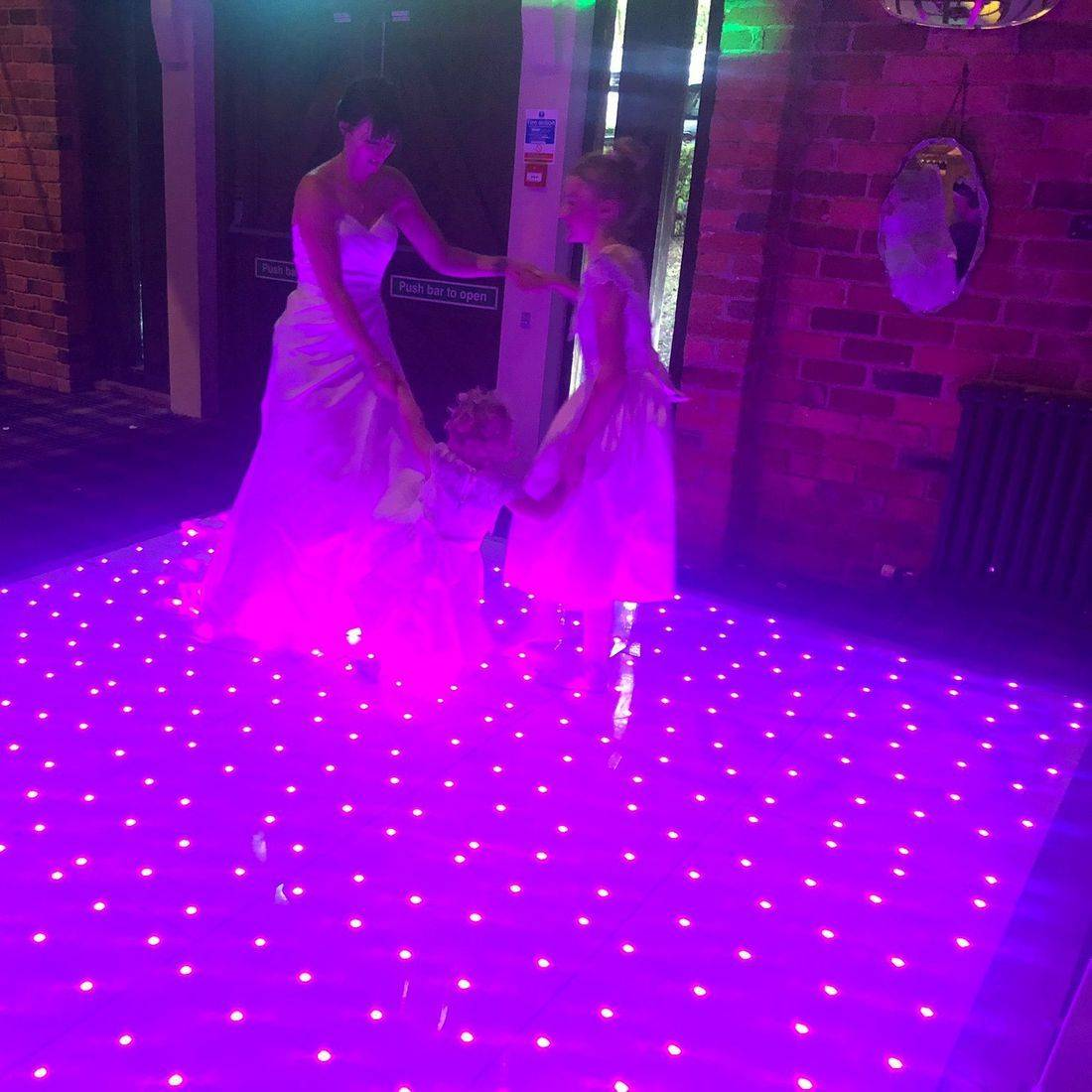 The Bell at Belbroughton #Worcesterhsire #wedding #dj #weddingentertainment #barn #barnwedding #leddancefloor