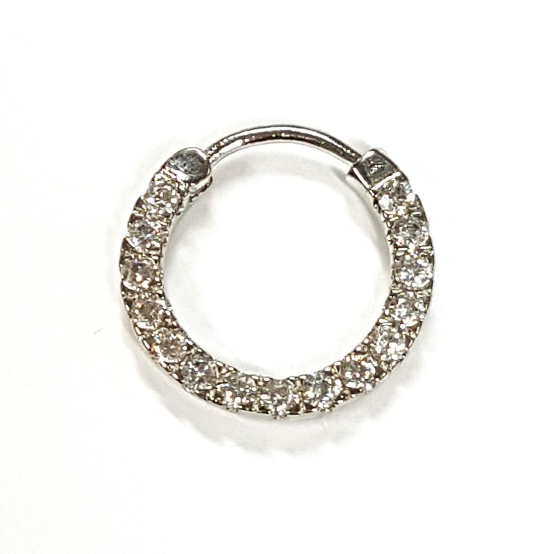 1.2mm titanium crystal septum clicker  available at Kazbah online and our Leicester City Centre Shop