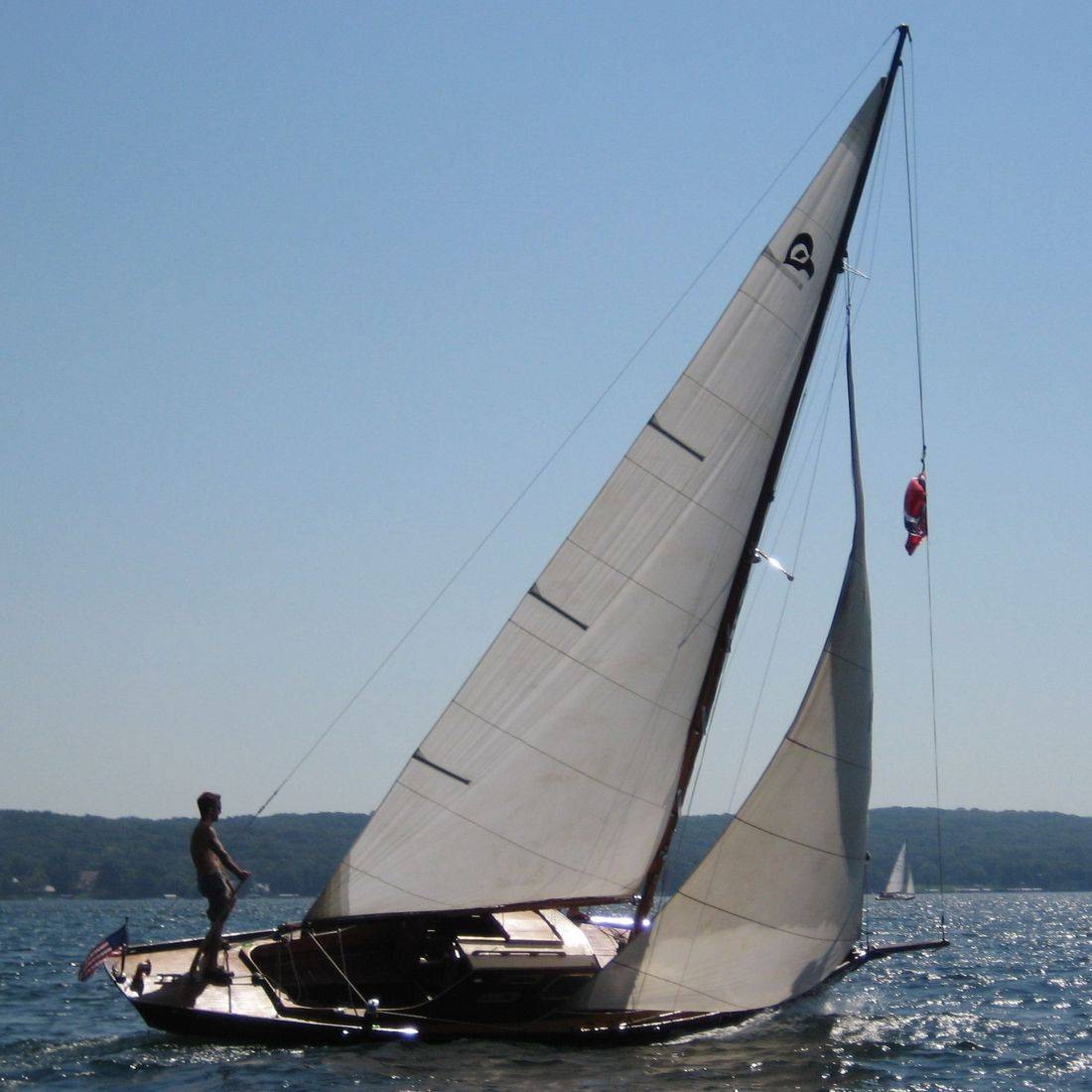 Wood sailboat for sale at Bergersen Boat
