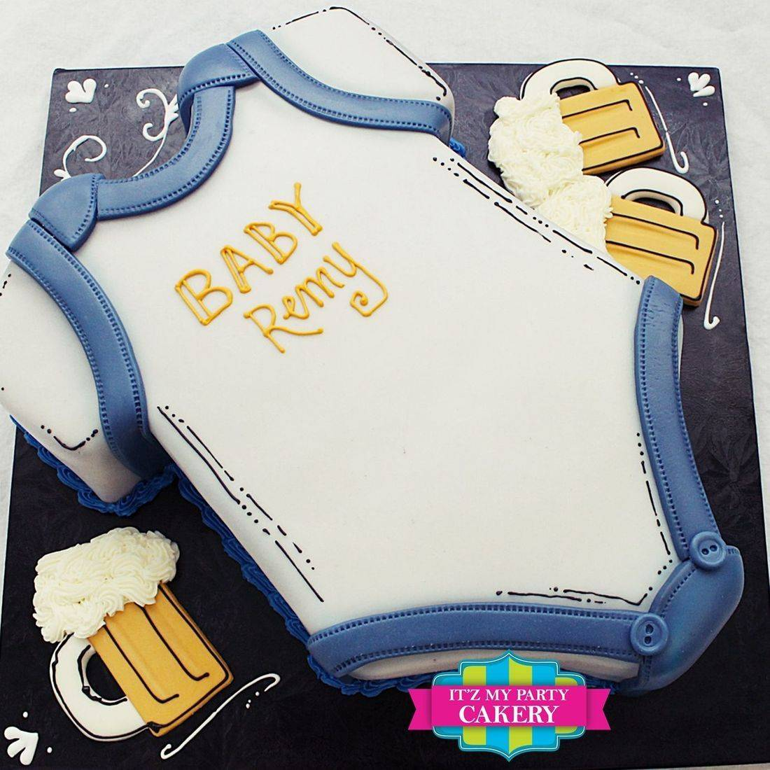 Baby Brewing Onsie Cake Dimensional Cake Milwaukee