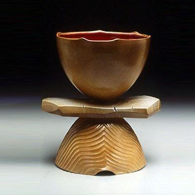 pedestal bowl with horizon slab