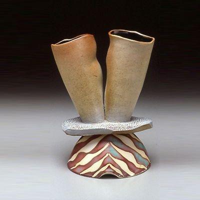 Double Necked Vessel on slab & pedestal