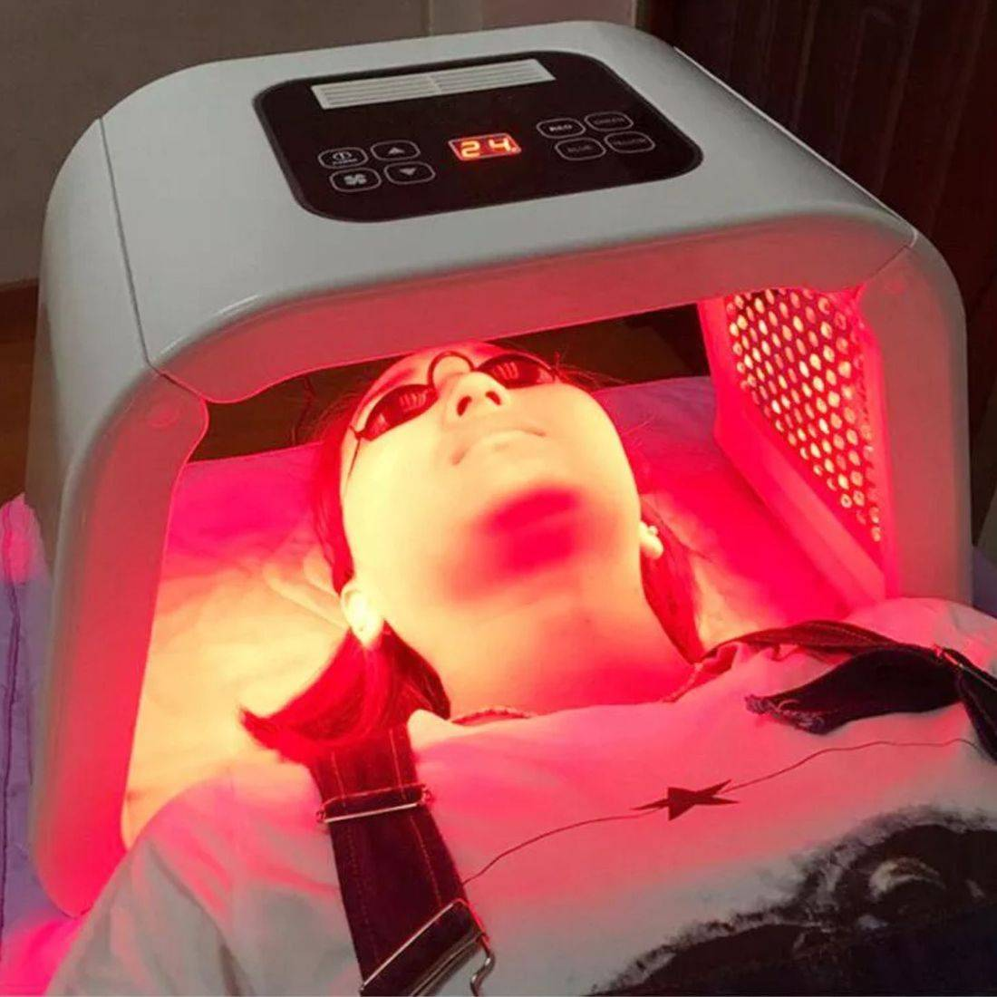 LED face mask anti ageing acne skin treatment